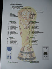 1982 World Cup Final West Germany v Italy Matchsheet