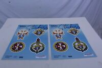 Knights of Columbus Set of 2 Sticker Sheets with 4 Different Decals on Each