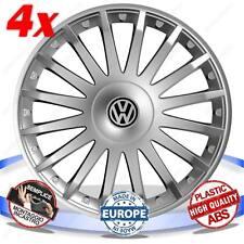 SET 4 BORCHIE RUOTA COPRI CERCHI CRYSTAL SILVER 15 VW GOL III