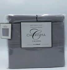 Charisma Cal King Silver 400 Thread Count 6 Piece Sheet Set 100% Cotton...