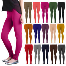 NEW WOMENS LEGGINGS FULL ANKLE LENGTH SMOOTH LOT ALL COLORS LADIES SKINNY FIT