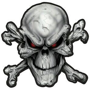 Lethal Threat Rouge Eye Mal Crâne OS Croisés Moto Motard Grand Patch LT30219
