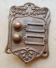 Geschenknet Antik Messing Klingel 2 Jugendstil Klingelschild Klingelplatte  K15A