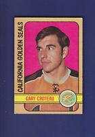 Gary Croteau 1972-73 O-PEE-CHEE OPC Hockey #3 (VGEX+) California Golden Seals