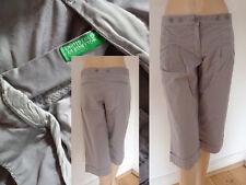 Benetton Hose Girl Casual Style knielang Bundfalten Umschlag grau 36 (i40) Top