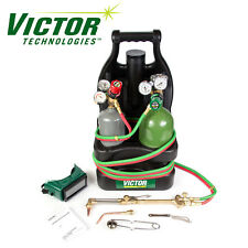 0384-0944 Victor Portable Tote Torch Kit Set Cutting Outfit With Cylinders