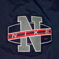 Vtg 90s Nike Orbital Logo Fleece Lined Puffy Winter Hooded Stadium Jacket