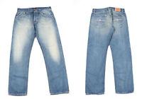Nudie Jeans Big Bengt Utilisé Vert Mer Bleu Jeans Hommes Taille W34 L32