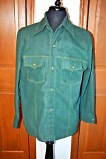 VTG Men's Western BF Shirt LARGE  Pearl Snaps FLANNEL Easy Care Fabric STYLE