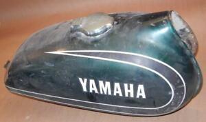1970's Yamaha Enduro DT1 ? RT1 steel fuel gas tank original green paint USED  ^