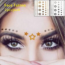 Or Argent Star Temporaire Visage Tatouage Paillettes Joue Accessoire Festival
