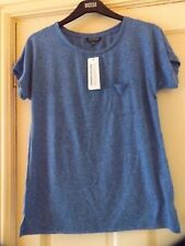 WAREHOUSE NEPPY BLUE POCKET T SHIRT SIZE 8, BNWT