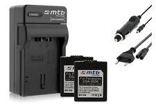 2x Batteries Dmw-bcf10e Chargeur pour Panasonic Lumix Dmc-fs7