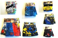 Men's Super Hero Knit Boxer Underwear Superman Batman Captain America NWT