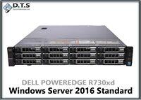 Dell PowerEdge R730XD Server 2x E5-2630v3 8 Core 128GB H330 Server 2016 24TB