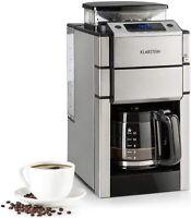 KLARSTEIN Aromatica X Máquina de Café con Molinillo Conico Pantalla LED Acero In