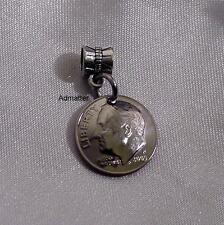 PANDORA BRACELET CHARM or PENDANT 1978 HAND DOMED DIME ANNIVERSARY BIRTHDAY GIFT