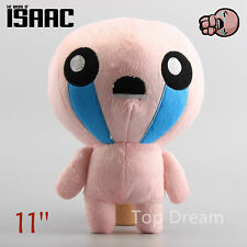 28CM The Binding of Isaac Soft Plush Toy Doll Lovely Pink ISSAC Gift Pillow 11''