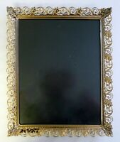 """ANTIQUE BRASS/GOLD 11""""x13"""" PICTURE FRAME Vintage Wall Photo Holder"""