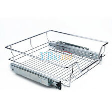 Pull out Pantry Organiser Kitchen Base Storage Wire Basket for 4 Size Cabinet AU 500mm 1 Basket