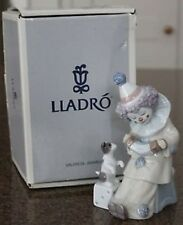 Mint! Lovely Lladro 'Pierrot With Concertina Clown Figurine #05279 Original Box