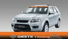 62598 WESTS TIGERS COLOUR VISOR BLOCK OUT DECAL NRL CAR STICKER ITAG