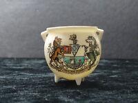 Goss china model of an ancient Irish bronze pot with Belfast crest