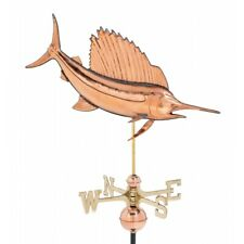 Sailfish Bill Fish Copper Weather Vane Vintage Old Style Shore Beach Swordfish