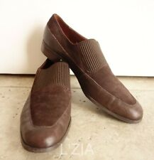 Etienne Aigner New York Germany Brown Leather Suede Loafers 9N