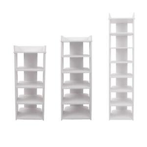 4-8 Tiers Wooden Shoe Rack Storage Shelf Display Stand Cabinet Organiser Unit UK