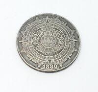 1880 Morgan Dollar Hobo Nickel Coin Mayan calendar etched