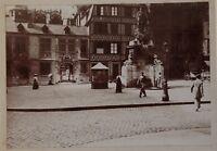 Francia Rouen Place Da La Cameriera Foto Vintage snapshot Citrato c1900