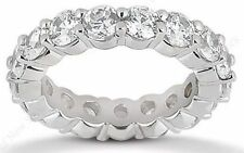 2.11 ct Round Diamond Eternity Ring 18k White Gold Band 21 x 0.10 ct, F-G VS/SI1