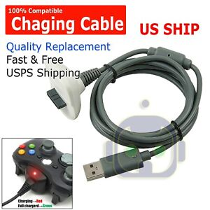 For Xbox 360 Wireless Game Controller USB Charging Cable Replacement USB Charger