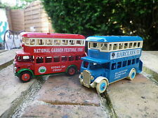 DAYS GONE by Lledo AEC REGENT BUS BARCLAYS pneus blanc et NATIONAL GARDEN 1986