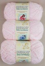 New listing 3 Bernat Baby Coordinates Yarn Skeins Baby Pink 5 Oz #3 Light