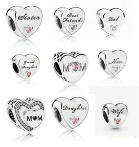 New Genuine PANDORA Sterling Silver ALE S925 Charm Daughter Wife Mum Love Heart