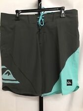 QUIKSILVER MENS NEW WAVE BONDED BOARD SHORTS SWIM TRUNKS GRAY SIZE 36 NEW! $125