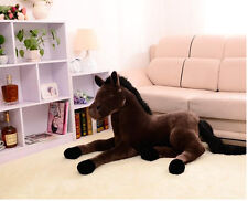 browjavascript:;n plush simulation horse toy stuffed horse doll gift about 70cm