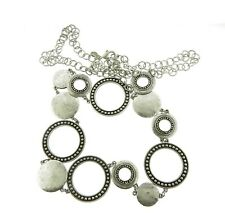 """Chico's Silver Circle Link Waist Belt or Necklace 1.5x42-46"""""""