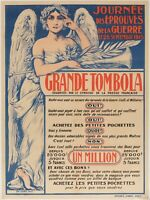 Original Vintage Poster - Grande Tombola - Raffle - First World War - Press 1915