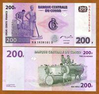 Congo D.R., 200 Francs, 2007, P-99, UNC