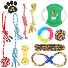 Set of 10 Dog Rope Toys Dog Chew Toys Puppy Teething Toys for Small Medium Dogs