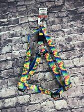 "Executive Pup L M  Rainbow Tie-Dye Neoprene Adjustable Harness 19.5"" 29.5"""