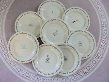 "Set of 8 Pottery Barn ""Bar Lingo"" Canape/Dessert/Salad Plates"