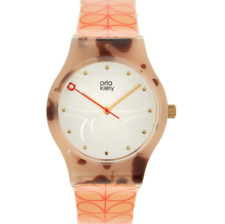 ORLA KIELY BOBBY WATCH TIME SHELL STEM RRP £39.95
