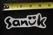 "New listing Sanuk sandal surf ocean black sunglasses ~4.5"" Vintage Surfing Decal Sticker"