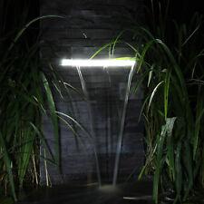 Wasserfall Set Für Garten Steinmauer Teich Gartenteich Mit LED Beleuchtung  Licht