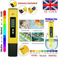PH Meter LCD Digital Electric Tester Pen Water Hydroponics Test Kit Aquarium