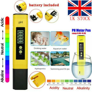 PH Meter LCD Digital Electric Tester Pen Water Hydroponics Test Kit Aquarium